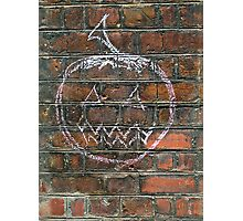 Halloween Pumpkin Graffiti London  Photographic Print