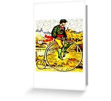 Big Bike Crackle Greeting Card