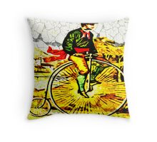 Big Bike Crackle Throw Pillow