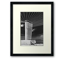 On the roof of Le Corbusier's Unité d'Habitation in Marseille - 5 Framed Print