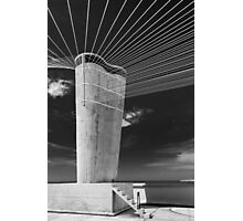 On the roof of Le Corbusier's Unité d'Habitation in Marseille - 5 Photographic Print