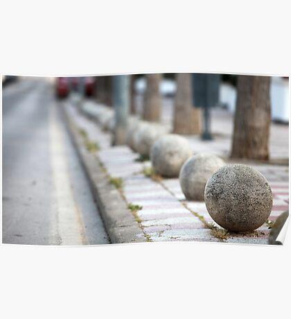 granite balls Poster