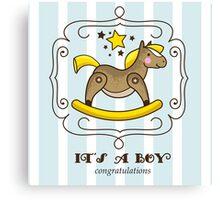 Its a boy Canvas Print