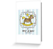 Its a boy Greeting Card