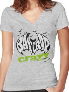 Bat Crap Crazy - Crazy People - People are Bat Crap Crazy Women's Fitted V-Neck T-Shirt