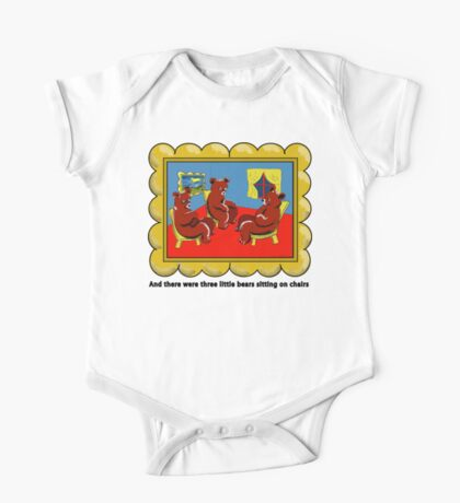 Goodnight Moon Three Little Bears Sitting on Chairs One Piece - Short Sleeve