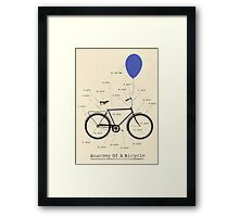 Anatomy Of A Bicycle Framed Print