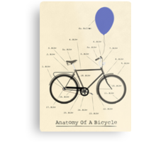 Anatomy Of A Bicycle Metal Print