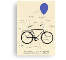 Anatomy Of A Bicycle Canvas Print