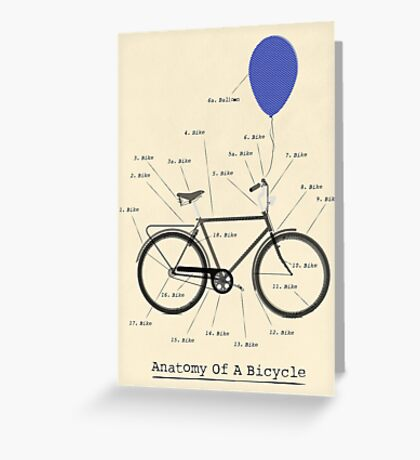 Anatomy Of A Bicycle Greeting Card