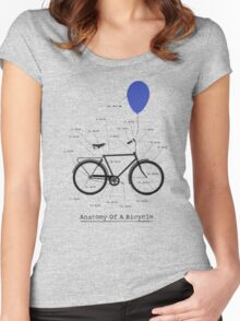 Anatomy Of A Bicycle Women's Fitted Scoop T-Shirt