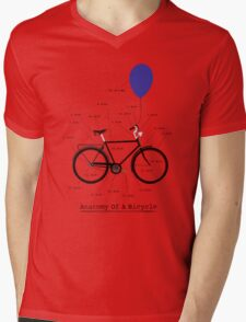 Anatomy Of A Bicycle Mens V-Neck T-Shirt