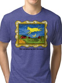 Goodnight Moon The Cow Jumping Over the Moon Tri-blend T-Shirt
