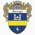 Sarraga Coat of Arms/Family Crest by William Martin