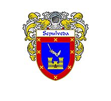 Sepulveda Coat of Arms/Family Crest Photographic Print