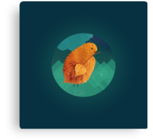 Lonely chicken Canvas Print