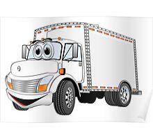 Box Truck White Cartoon Poster