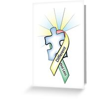 Autism Ribbon with Puzzle Peace Greeting Card