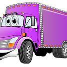 Box Truck Purple Cartoon by Graphxpro
