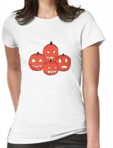 Collage pumpkins Womens Fitted T-Shirt