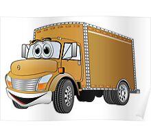 Box Truck Brown Cartoon Poster
