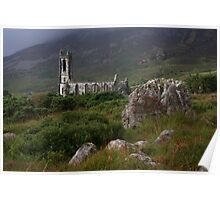 Dunlewey Church On Overcast Day Poster