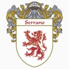 Serrano Coat of Arms/Family Crest by William Martin