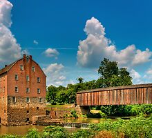 Bollinger Grist Mill & Burfordville Covered Bridge by Jerry E Shelton