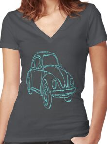 das auto Women's Fitted V-Neck T-Shirt