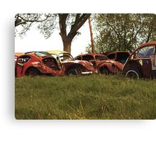 Automobile Graveyard No 6 Canvas Print