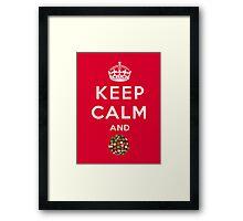 Keep Calm and Crush - Candy Crush Shirt Framed Print