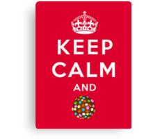 Keep Calm and Crush - Candy Crush Shirt Canvas Print