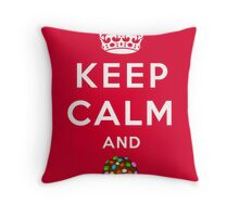 Keep Calm and Crush - Candy Crush Shirt Throw Pillow