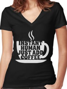 Instant Human Women's Fitted V-Neck T-Shirt