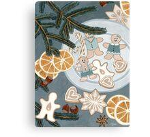 Gingerbread Man Cookies Canvas Print
