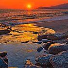 Sunset at the beach by Baki Karacay
