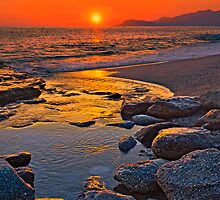 Sunset at the beach by Baki Karacay