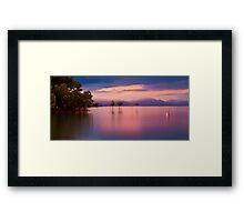 Pink sunset at Orpheus Island Framed Print