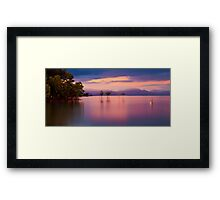 Pink sunset at Orpheus Island Framed Print