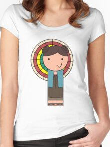 Kaylee Kokeshi Doll  Women's Fitted Scoop T-Shirt