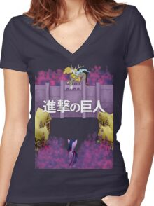 Attack on Ponyville Women's Fitted V-Neck T-Shirt