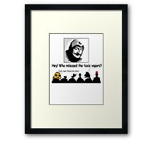 WHO ~ ?? Framed Print