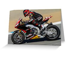 Sylvain Guintoli at Laguna Seca 2013 Greeting Card