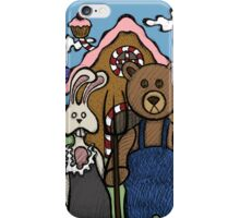 Teddy Bear And Bunny - Abearican Gothic iPhone Case/Skin