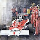 James Hunt Monaco GP 1977 McLaren M23 by Yuriy Shevchuk