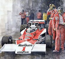 James Hunt Monaco GP 1977 McLaren M23 by Yuriy Shevchuk