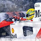 Ayrton Senna McLaren 1991 Hungarian GP by Yuriy Shevchuk