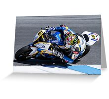 Chaz Davies at Laguna Seca 2013 Greeting Card