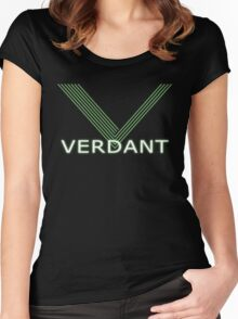 Verdant Night Club Logo - Neon Lines Women's Fitted Scoop T-Shirt