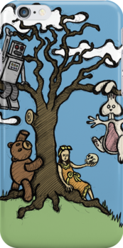 Teddy Bear And Bunny - Their Special Tree by Brett Gilbert